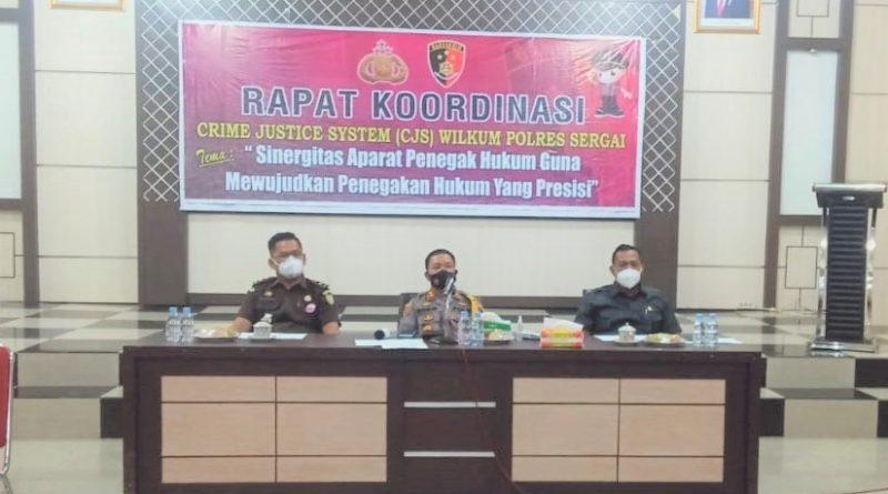Pengadilan Negeri Sei Rampah Mengikuti Rapat Koordinasi Sistem Peradilan Pidana (Criminal Justice System)