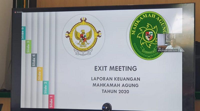 Pengadilan Negeri Sei Rampah Ikuti Exit Meeting Pemeriksaan BPK atas Laporan Keuangan Tahun 2020 pada Mahkamah Agung Republik Indonesia Secara Virtual