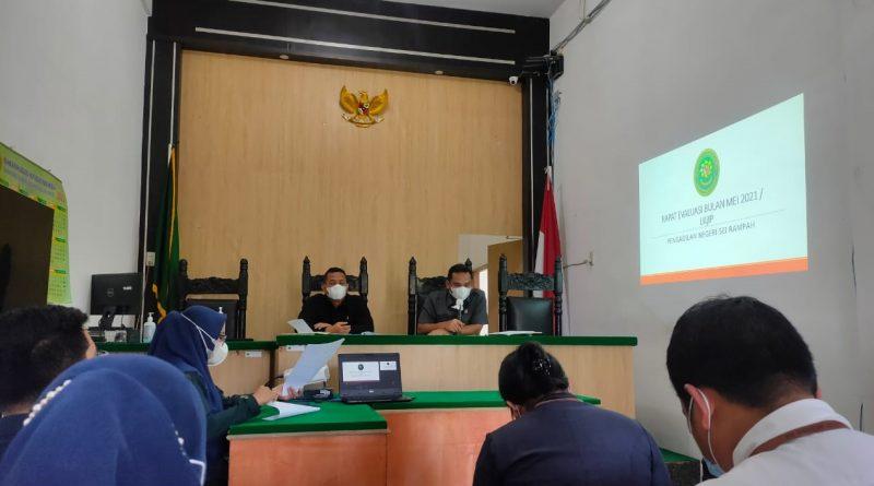 Rapat Bulanan Juni 2021 dan Rapat Evaluasi LKjIP Pengadilan Negeri Sei Rampah Tahun 2020